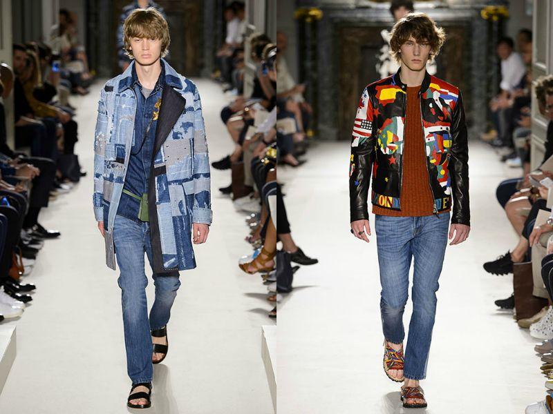 Парни-модели в мужской коллекции от Valentino