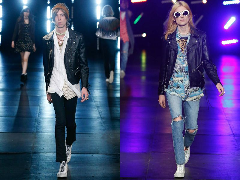 Показ от Saint Laurent