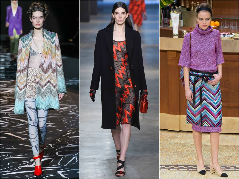 Зигзаг в коллекциях Missoni, Christopher Kane, Chanel