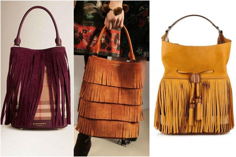 Три сумки с бахромой от Burberry