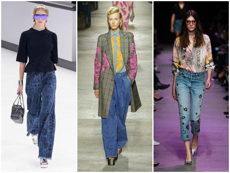 Джинсовые брюки в коллекциях Chanel, Dries Van Noten, Paul Joe