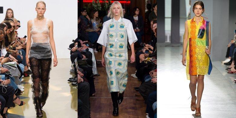 Презентации одежды из синтетических тканей