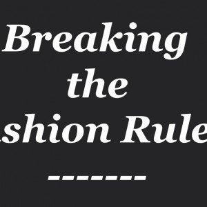 Надпись Разрушай модные правила