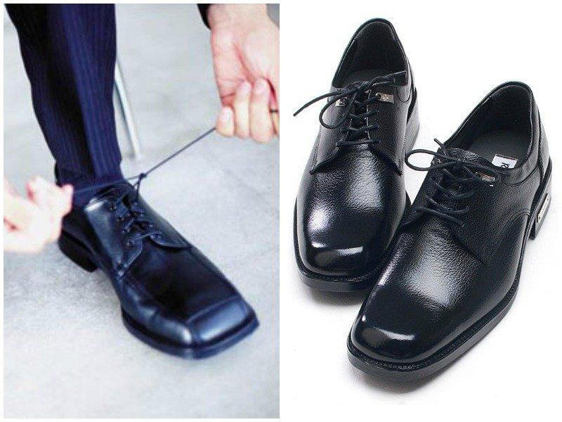 мужские туфли с квадратным носом