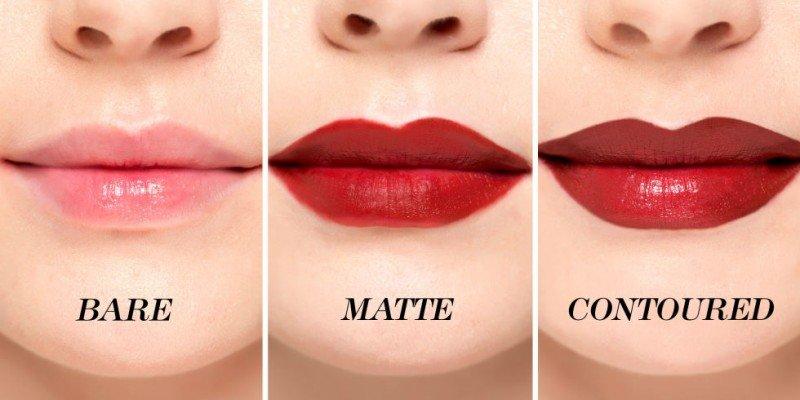 Пошаговая окраска губ