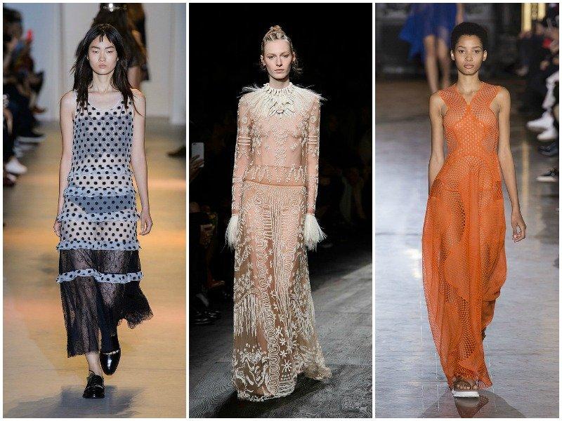 Прозрачные платья в коллекциях от John Galliano, Valentino, Stella McCartney
