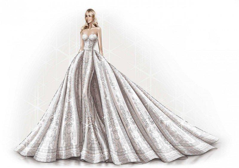 Дизайнерское платье от Зухаира Мурада