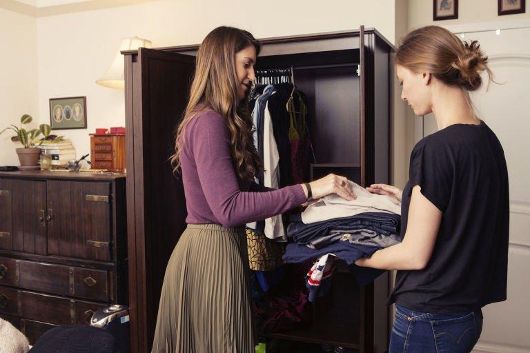 Осмотр гардероба