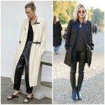 Кожаные брюки от Elizabeth Olsen и Isabel Marant