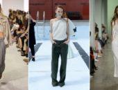 Модели в широких брюках