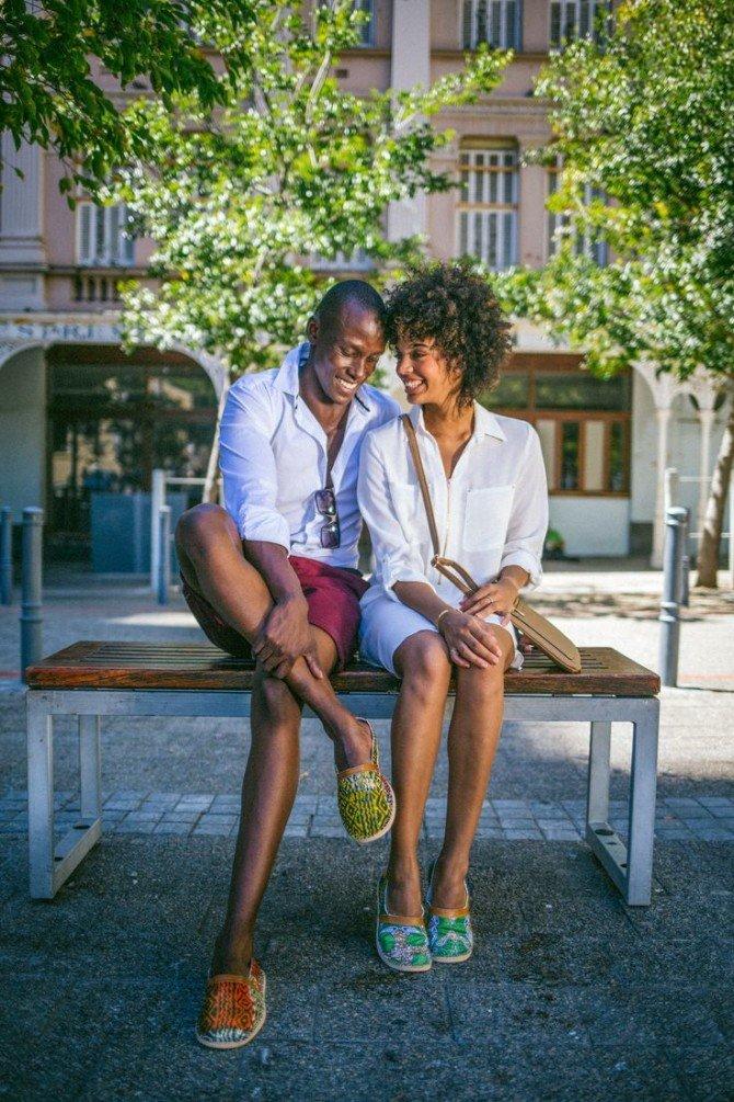 Пара в обуви от African Handmade Shoes