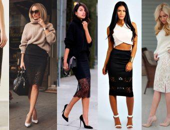 Неповторимая и загадочная кружевная юбка — стиль современной модницы