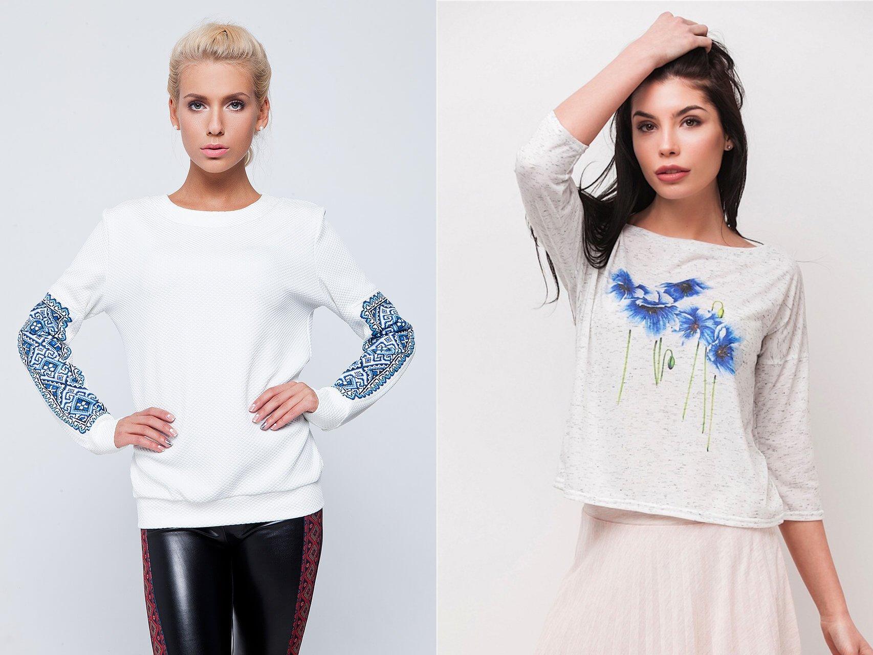 Модные свитшоты 2017 женские