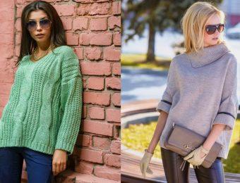 Модные вязаные и трикотажные свитера на зиму 2017-2018 года