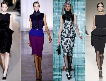 Модные женские блузки с баской