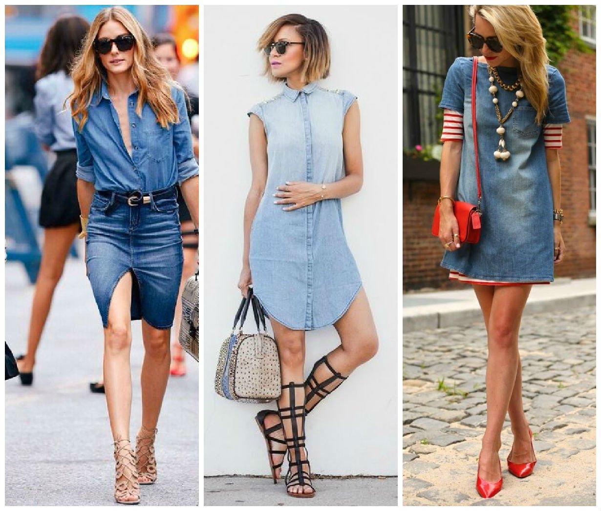Модный женский деним 2017 года - фасоны джинсовых юбок, штанов ... 4dfcf36b6a2