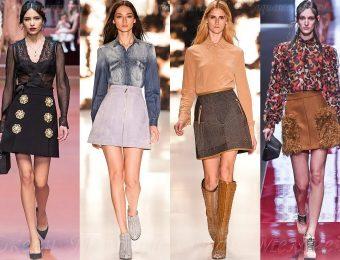 Модные фасоны юбок на зиму 2016-2017 года
