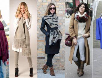 Модные шарфы сезона осень-зима 2017 года