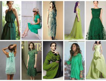 Красивые платья зелёного цвета на 2017 год: с чем их носить?