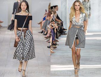 Модные в 2017 году фасоны юбок в клетку