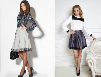 В стиле ретро: юбка-колокол и колокольчик на 2016 год