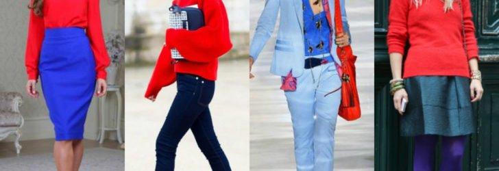 Синий цвет в одежде и его сочетания с другими цветами