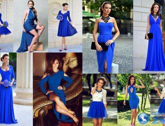 Изысканные и женственные синие платья-2016