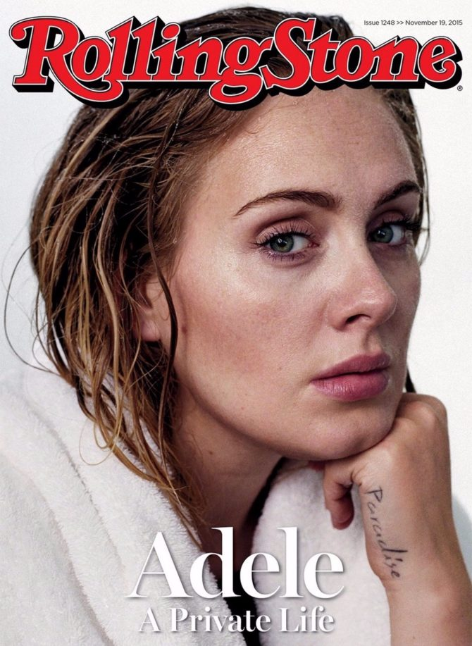 Адель на обложке журнала Rolling Stones