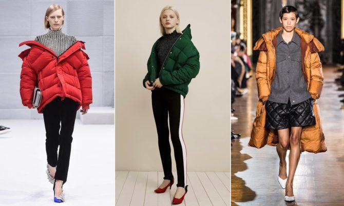 Модели в стёганых куртках от разных брендов