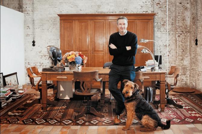 Дрис ван Нотен и пёс Гарри