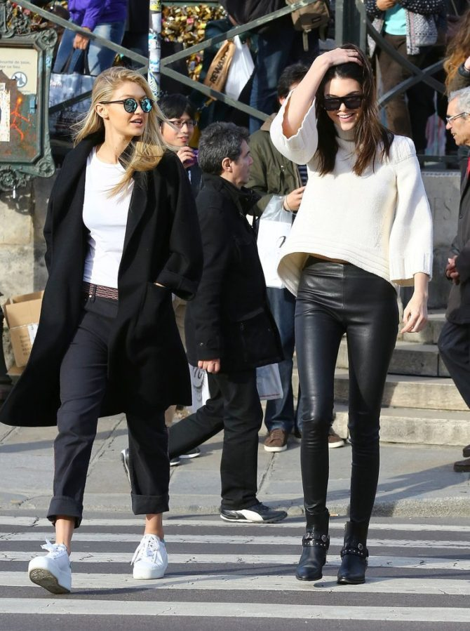 Кендалл и Джиджи на Парижской неделе моды