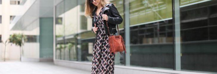 Длинное платье уличная мода