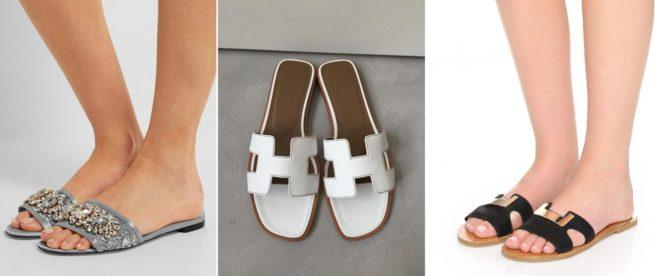 ШлёпкиDolce & Gabbana,Hermès иDiane von Furstenberg