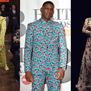 Модель и знаменитости в одежде с цветочным принтом