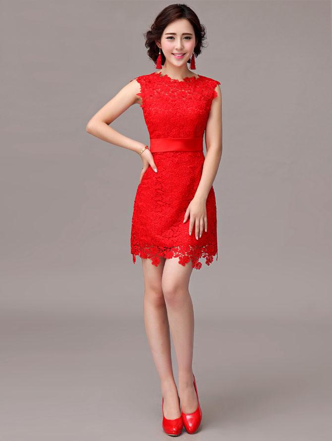 красное вечернее платье 2017