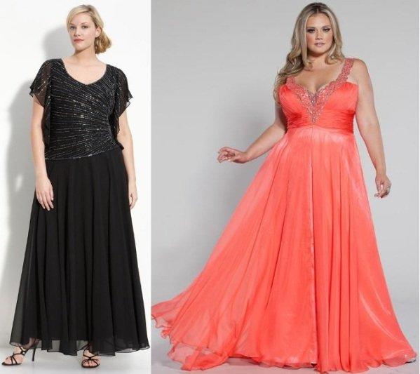 платья в стиле ампир для полных