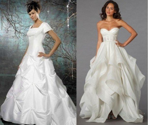 на фото свадебное платье в стиле ампир