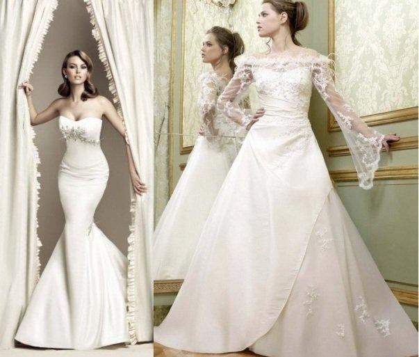 свадебное платье в стиле ампир на фото