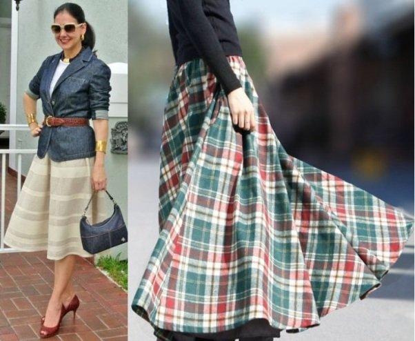 шерстяные юбки на фото