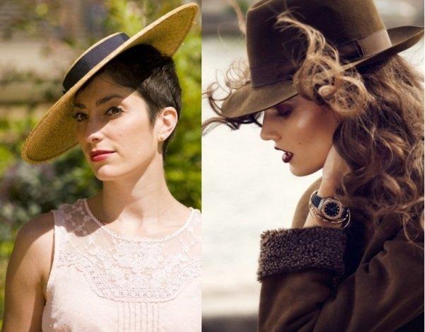 на фото модные шляпы на весну 2015 года