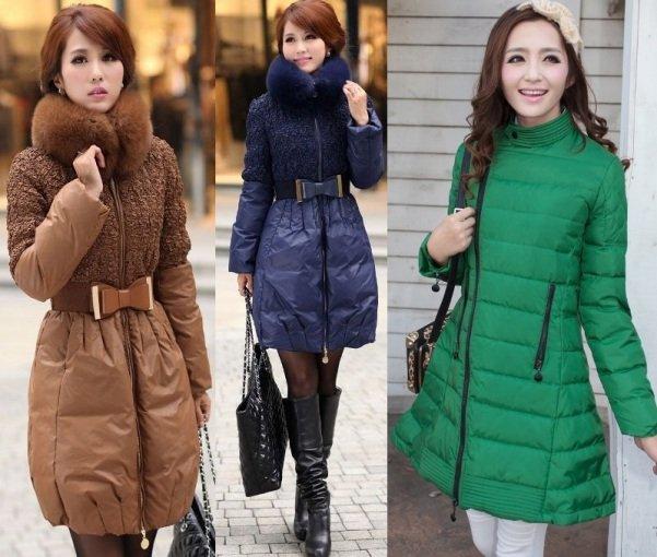 фото женских стеганых пальто