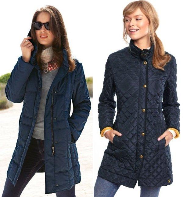 зимнее стеганое пальто на фото