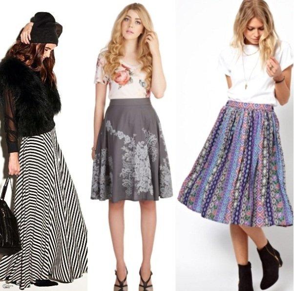 фото модных юбок на осень 2014