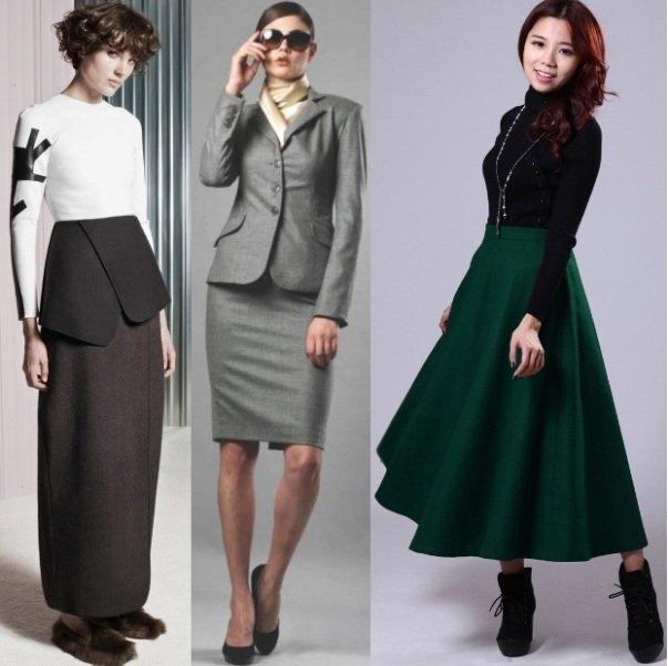 модные осенние юбки-2014 на фото