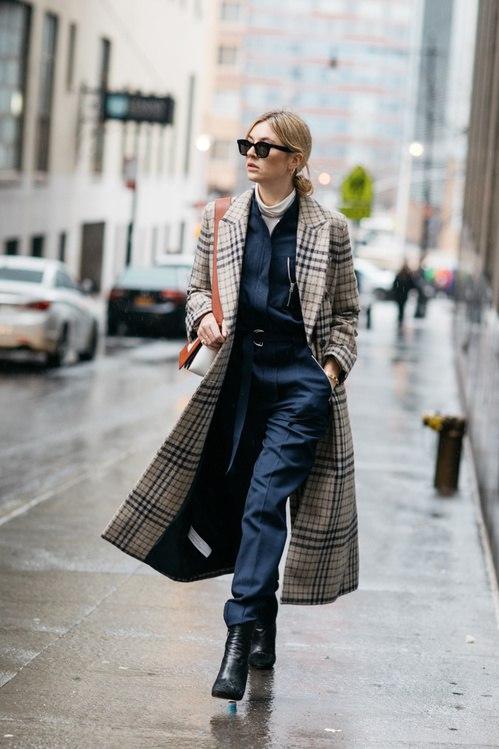 пальто в клетку 2017