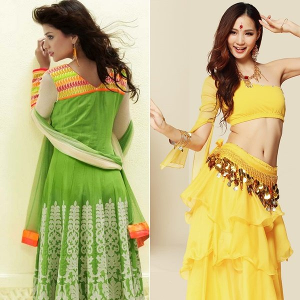 платье в индийском стиле на фото