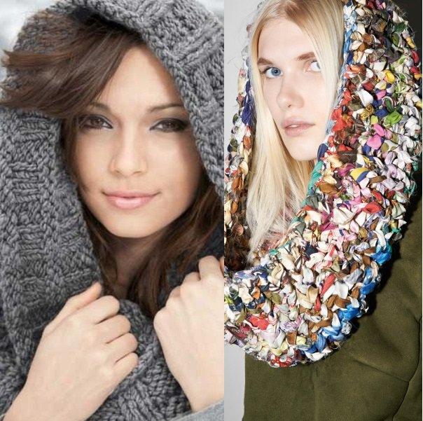 на фото шарф сноуд на голову