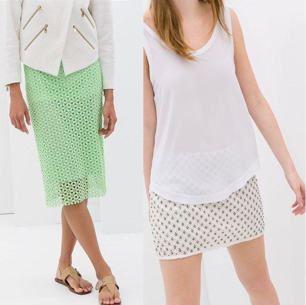 гипюровые юбки на фото