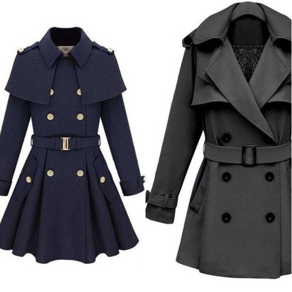 на фото пальто с пелериной