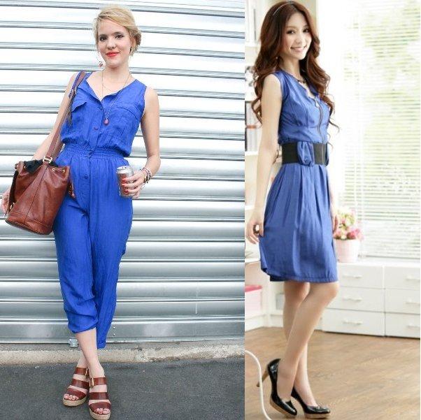 фото синего цвета в одежде
